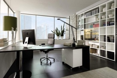 modern-office-room-design-with-tall-bookcase-and-wide-glass-window-picture